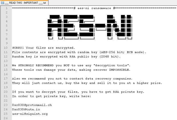 AES-NI malware