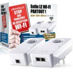 Test du kit CPL dLAN 1200+ WiFi ac Starter Kit de devolo