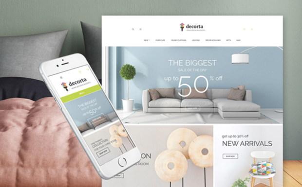 theme déco on templatemonster
