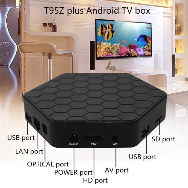 sunvell T95Z Plus box tv interface
