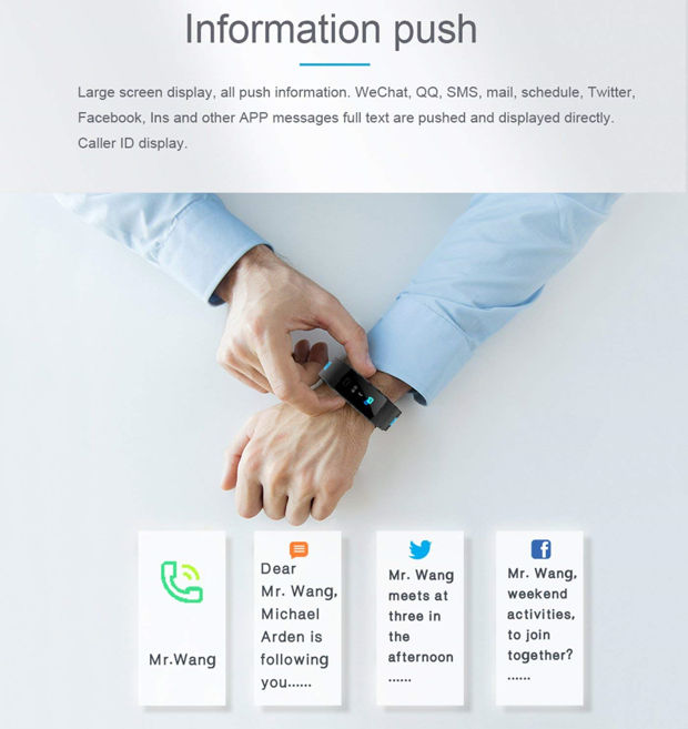 smartwatch Bloranda notification facebook