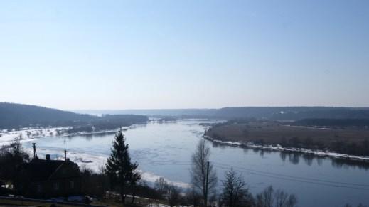 Niemen - Vilkija (widok z tarasu przy drodze)