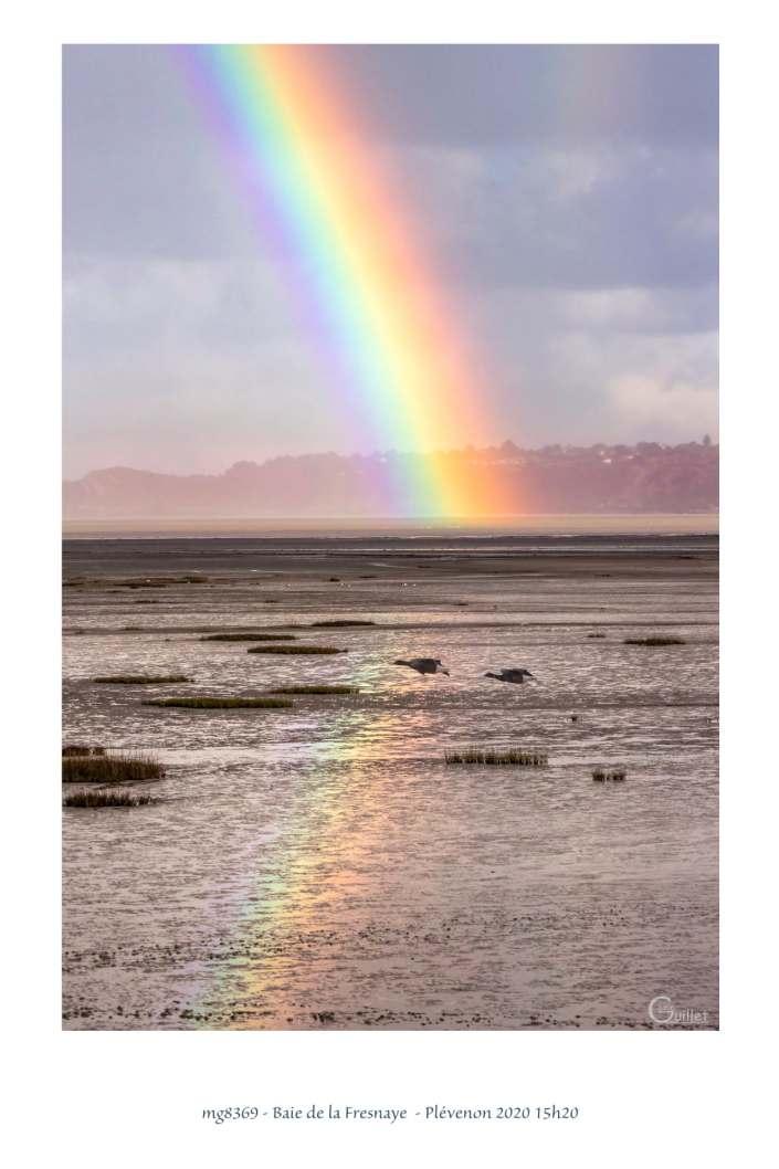 portfolio du photomarcheur - arc en ciel dans la baie de la Fresnaye