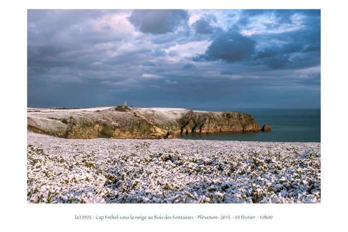 portfolio du photomarcheur - Cap Fréhel sous la neige en 2015