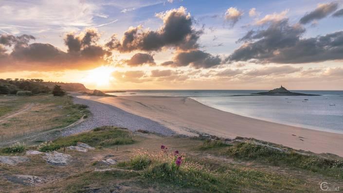 Coucher de soleil plage Saint Michel
