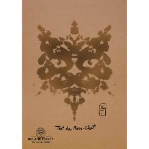 Dessin de chat façon test de Rorschach par Roland Perret, jeu du Chat-llenge. www.nalsace.com