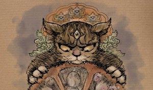 Chat-llenge, illustratipns de jeux de mots avec des chats par Roland Perret