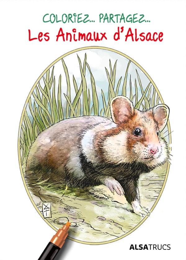 Colorier et partager les Animaux d'Alsace Coloriage roland perret
