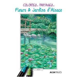 Pochette - Coloriage - jardins - alsace- Jordane Desjardins