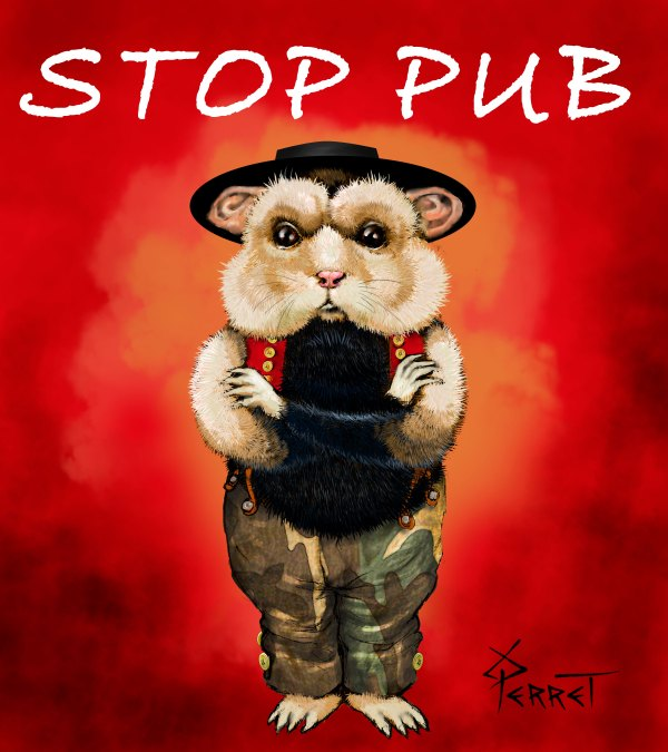 Stop-pub-sticker