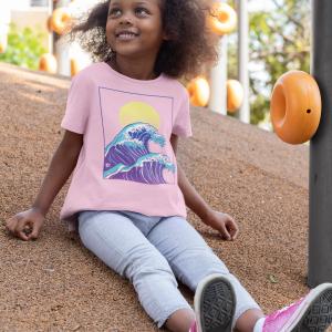 Kinder Shirt Mädchen Wave of Life Nalusurf rosa Welle