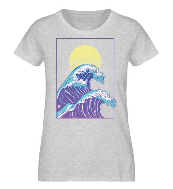 Wave of Life - Damen Organic Melange Shirt-6892