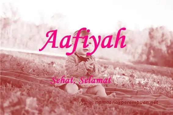 arti nama Aafiyah