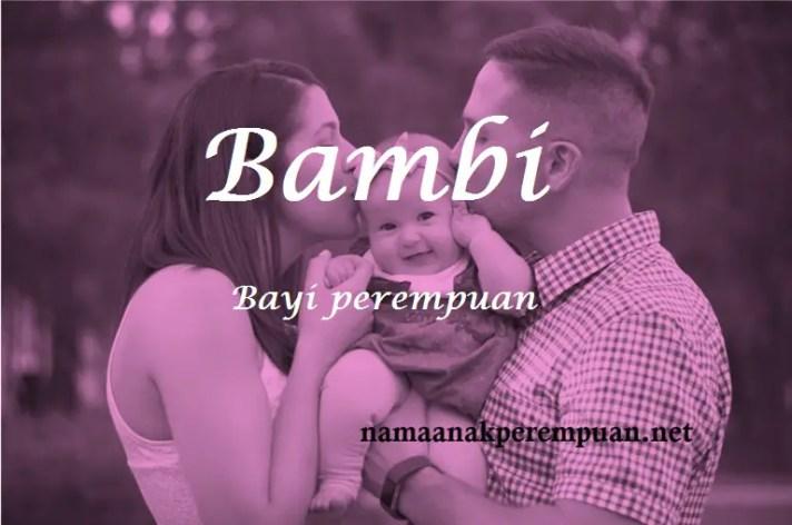 arti nama bambi