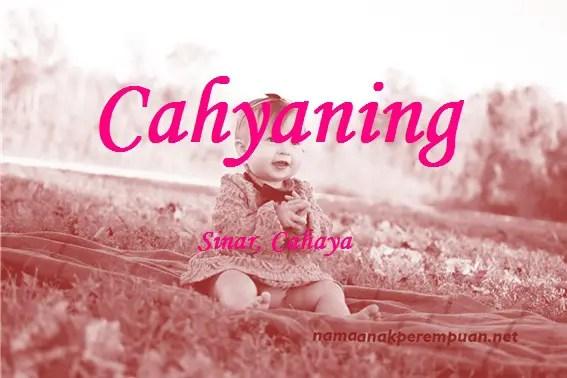 arti nama cahyaning