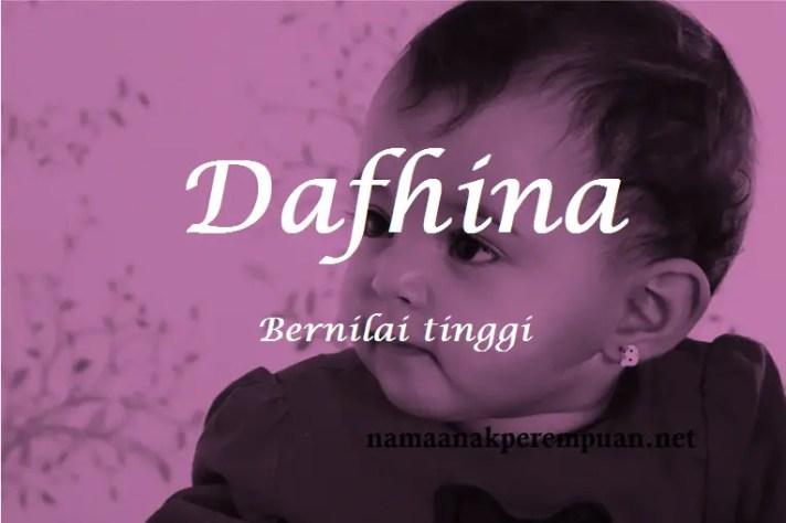 arti nama dafhina