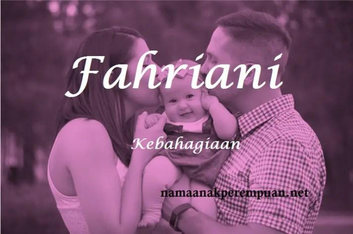 arti nama fahriani