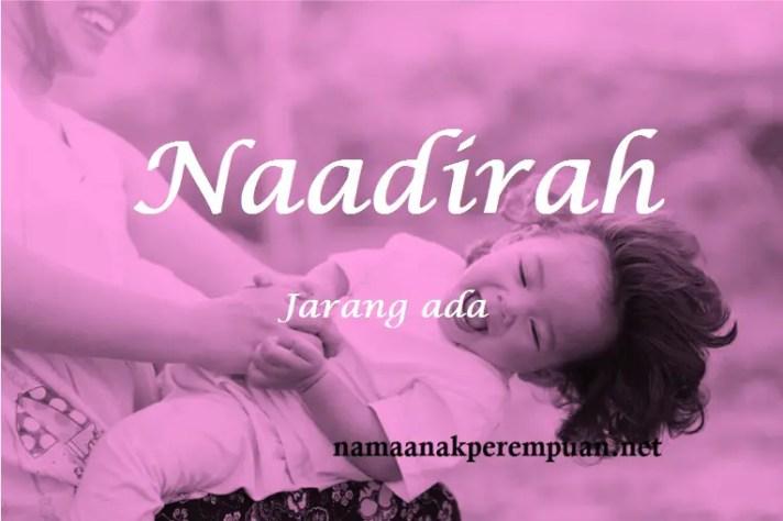 arti nama naadirah