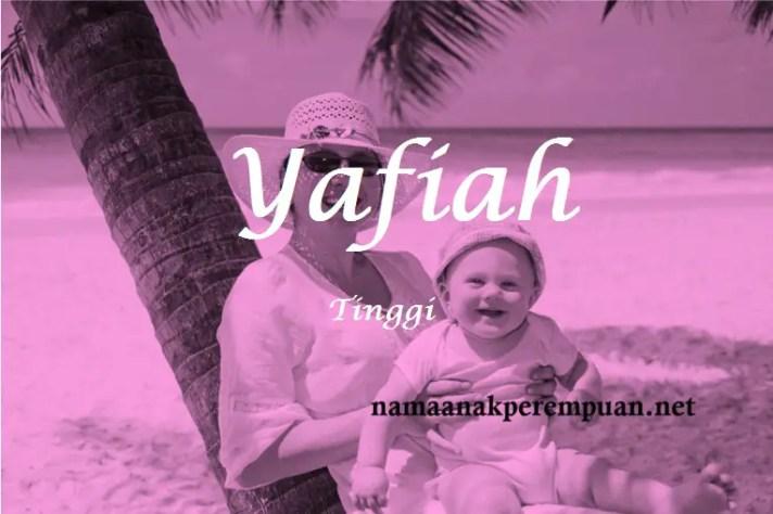 arti nama yafiah