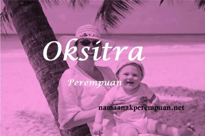 arti nama Oksitra