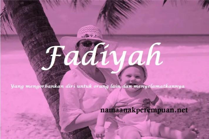arti nama fadiyah