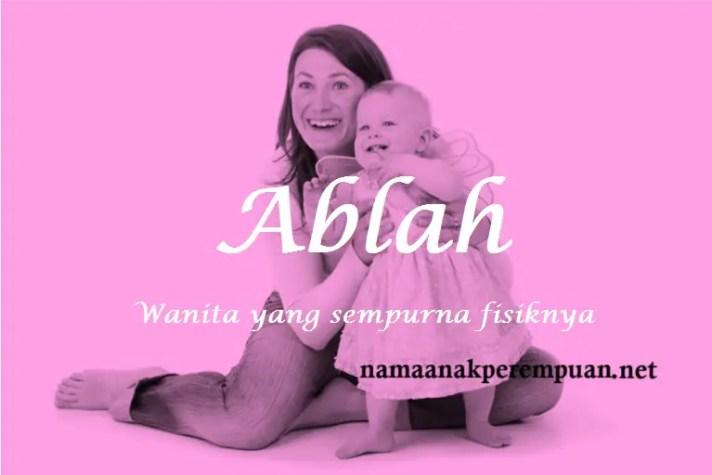 arti nama Ablah