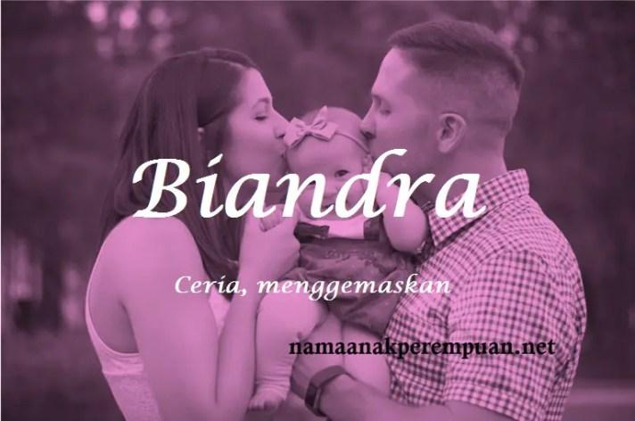 arti nama Biandra