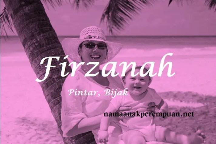 arti nama Firzanah
