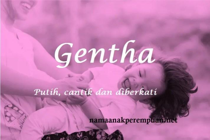 arti nama Gentha