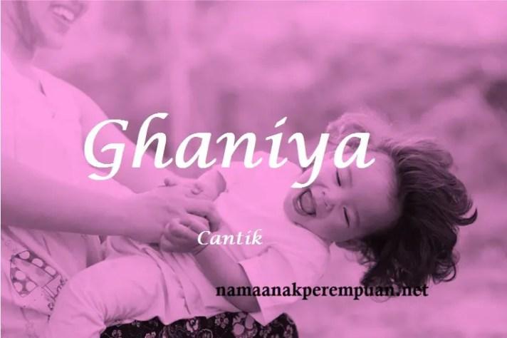 arti nama Ghaniya
