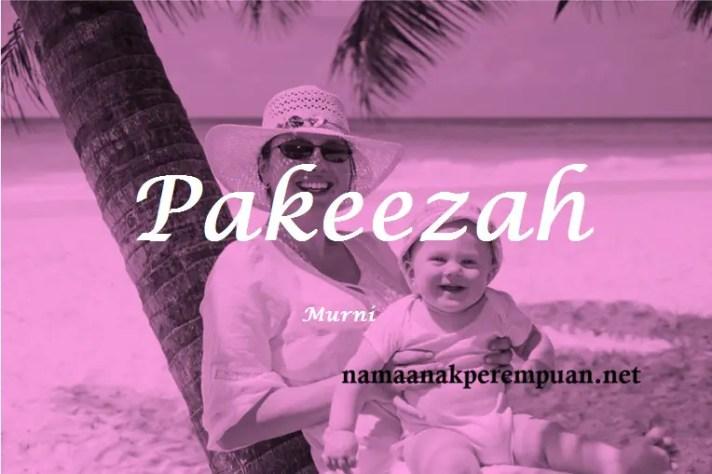 arti nama Pakeezah