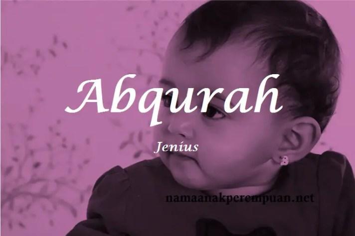 arti nama Abqurah