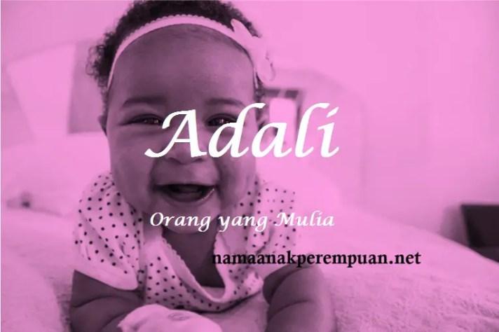 arti nama Adali