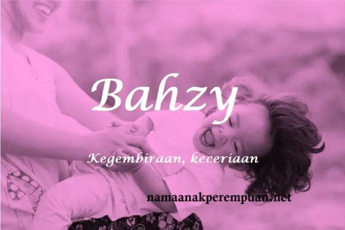 arti nama Bahzy