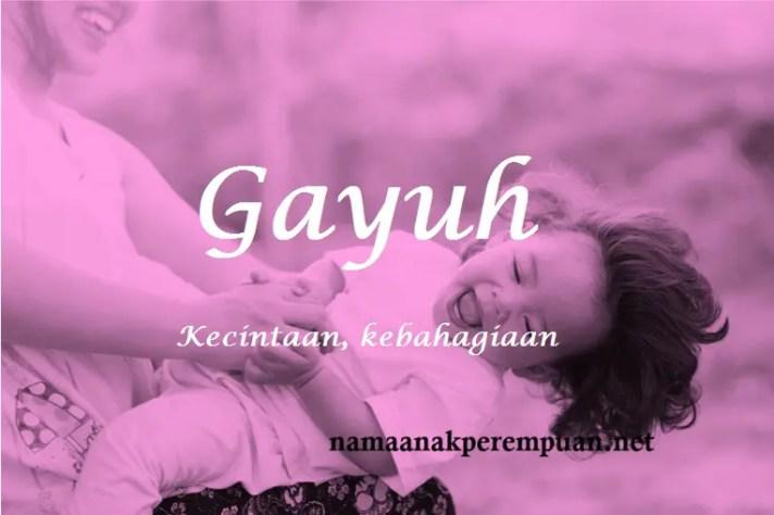 arti nama Gayuh