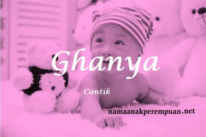 arti nama Ghanya