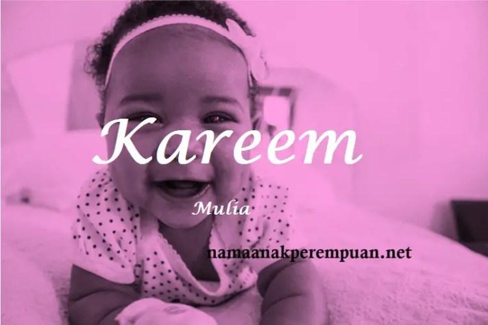 arti nama Kareem