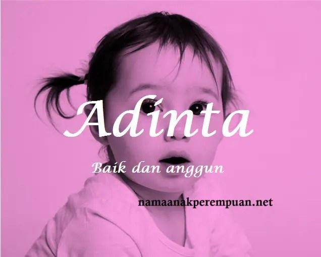 arti nama Adinta