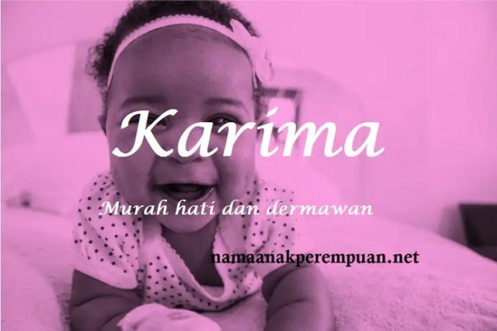 arti nama Karima