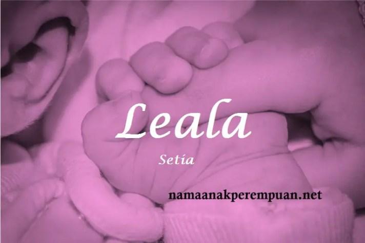 arti nama Leala