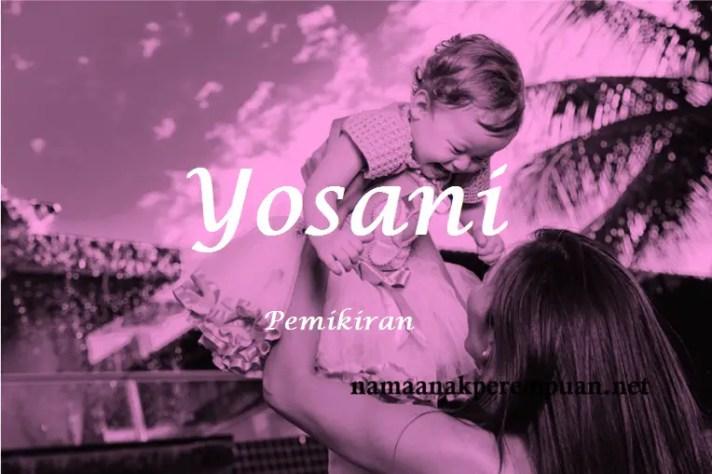 arti nama Yosani