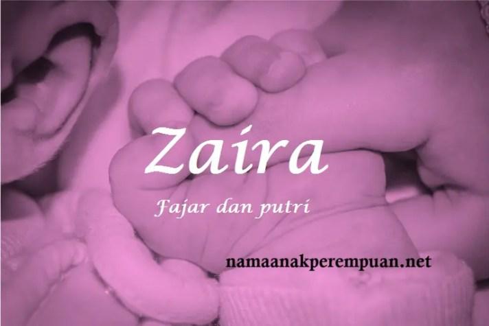 arti nama Zaira