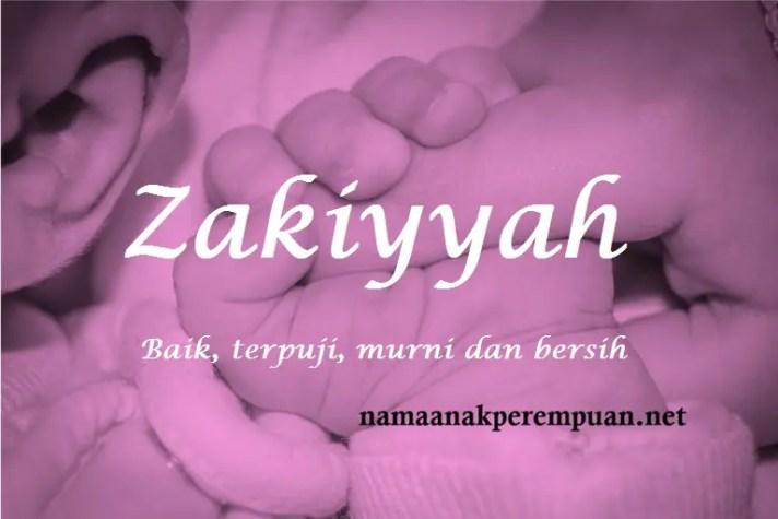 arti nama Zakiyyah