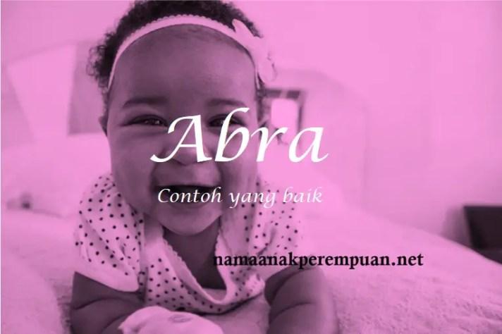 arti nama Abra