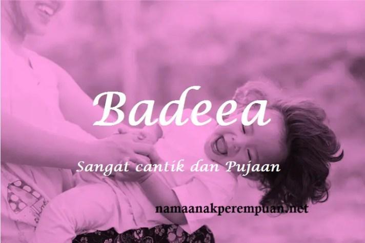 arti nama Badeea