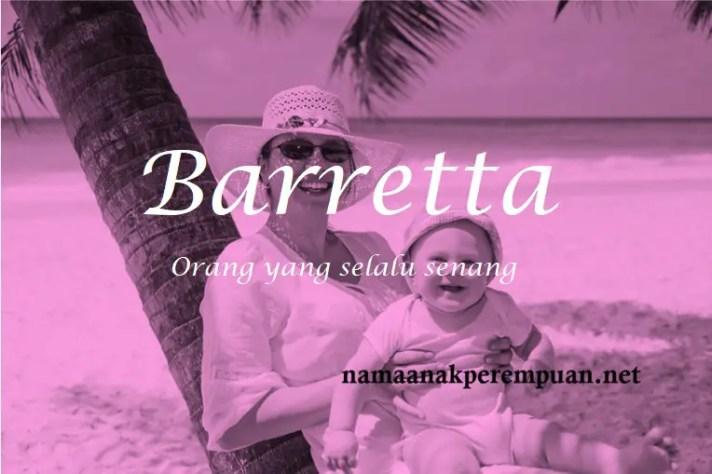 arti nama Barretta