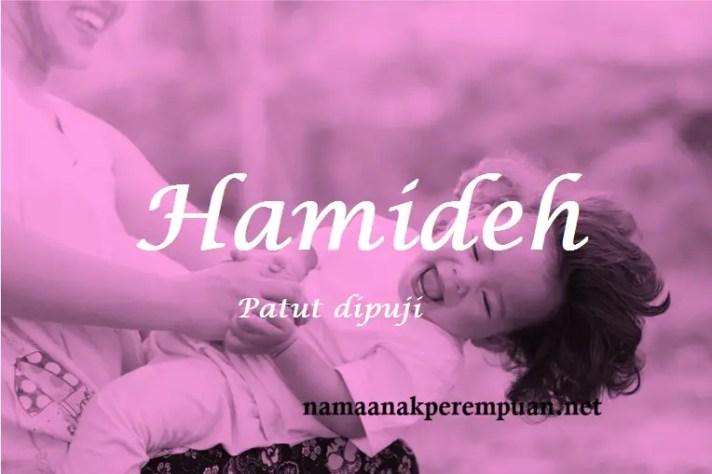 arti nama Hamideh