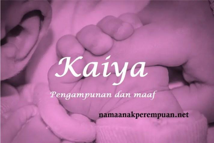 arti nama Kaiya