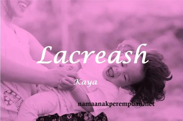arti nama Lacreash