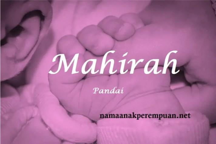 arti nama Mahirah